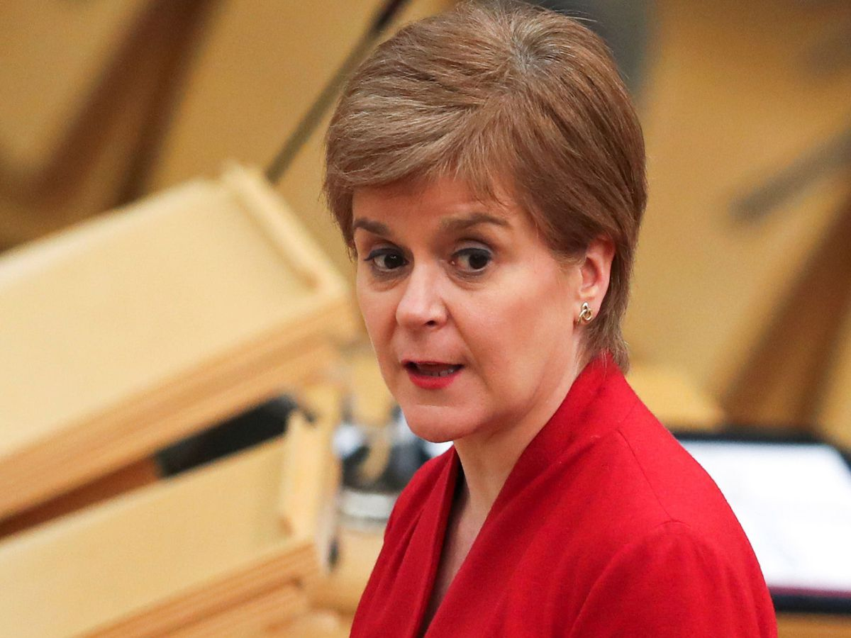 First Minister Nicola Sturgeon makes a statement to the Scottish Parliament in Holyrood, Edinburgh, setting out the Scottish Government's route map out of the current national lockdown