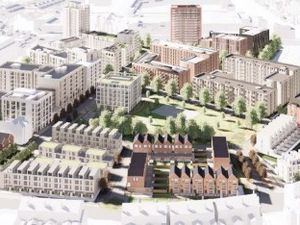 Updated plans for the Athletes Village, which show a row of townhouses in plot 2 (bottom right) - image courtesy of Birmingham City Council