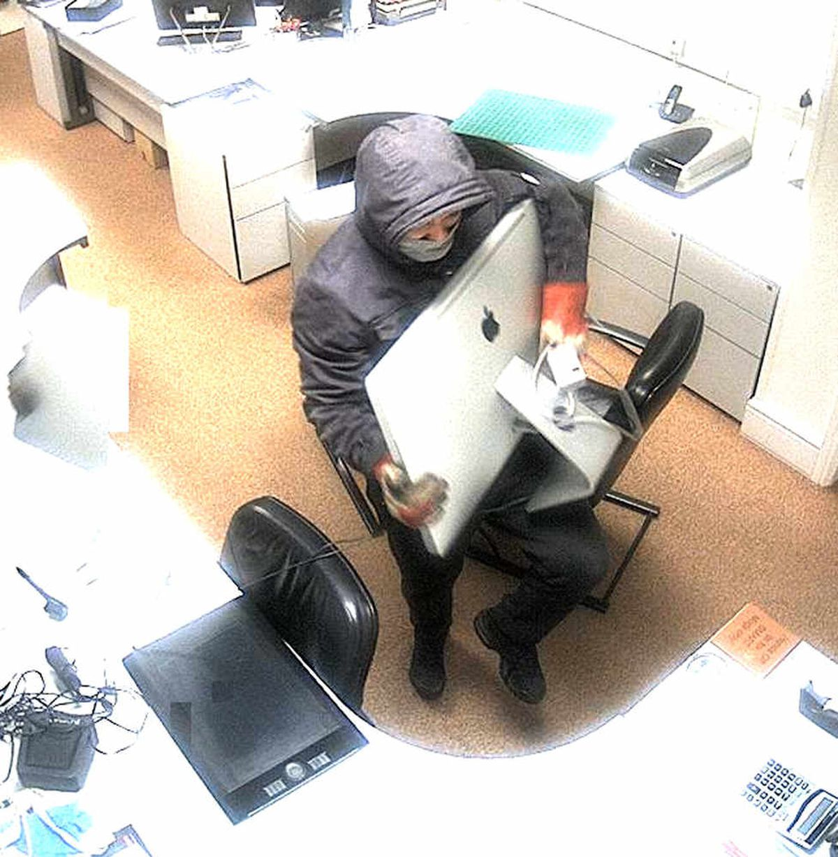 CCTV captures one of the thieves at Doodah Creative