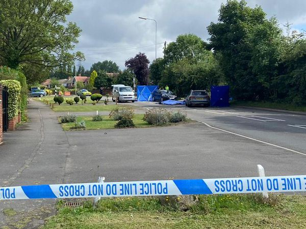 The police cordon on Cannock Road