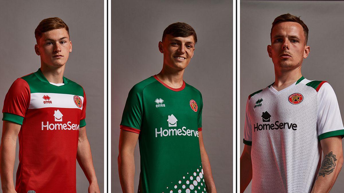 The new Walsall shirts