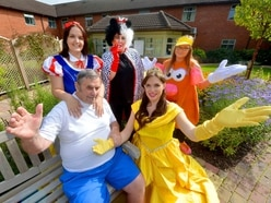 Britain's Got Talent star brings Disney display to care home