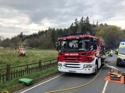 Two hurt in crash on A442 near Quatt