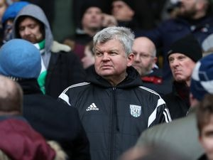 A dejected Adrian Chiles TV presenter and West Bromwich Albion fan.