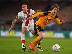 Oriol Romeu of Southampton and Fabio Silva of Wolverhampton Wanderers (AMA)