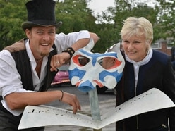 PICTURES: Back to school for Julie Walters as star unveil Smethwick pupils' sculptures