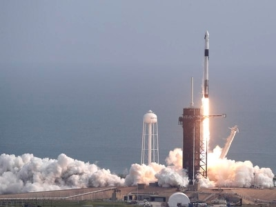 SpaceX launches then destroys rocket in astronaut escape test