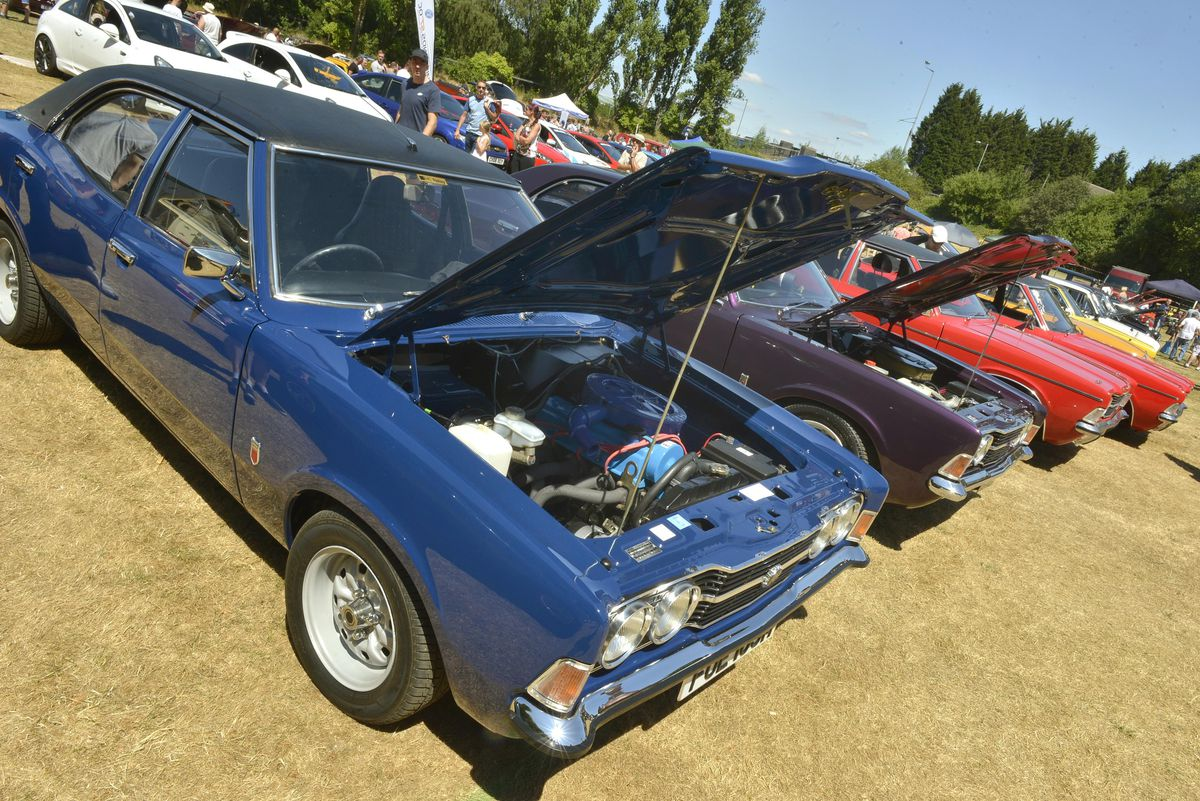 Some of the classic cars on display at the Willenhall Transport Show, Willenhall Memorial Park, Pinson Road, Willenhall