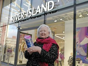 Newlife CEO Mrs Sheila Brown OBE outside River Island