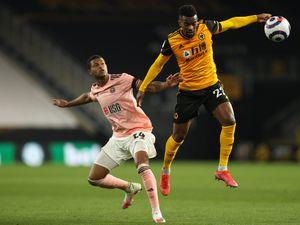 Rhian Brewster of Sheffield United and Nelson Semedo of Wolverhampton Wanderers (AMA)