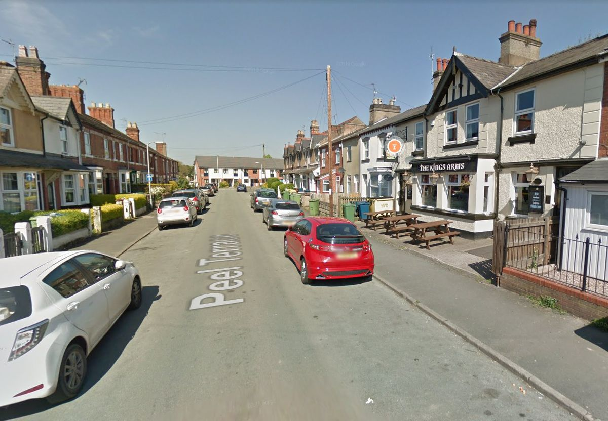 Peel Terrace in Stafford, closed to the Kings Arms pub. Pic: Google