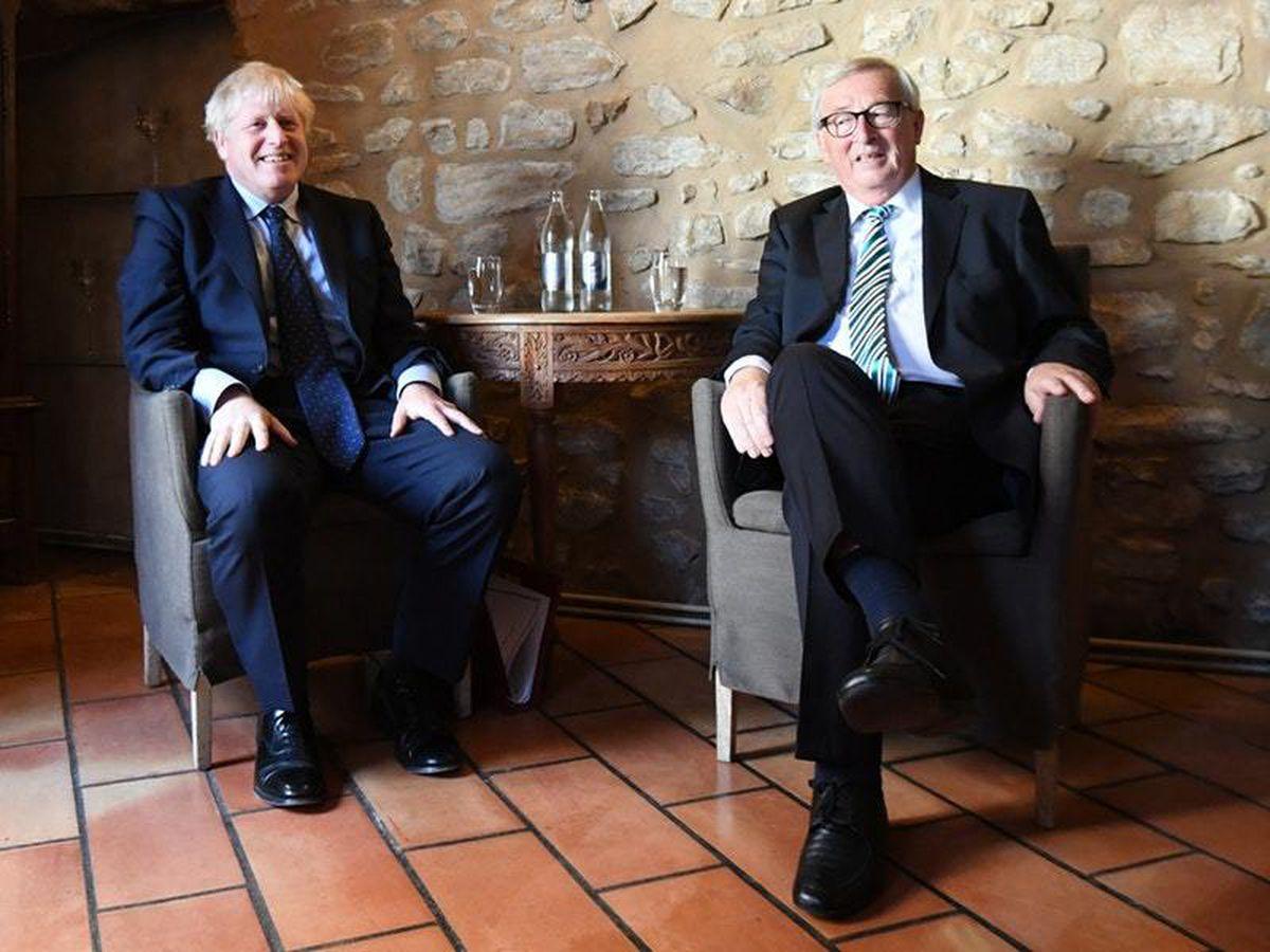 Boris Johnson with European Commission President Jean-Claude Juncker
