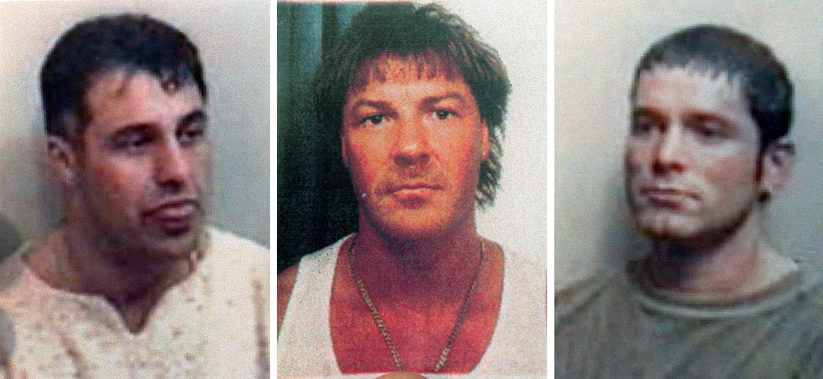 Undated Essex Police handout photos of (left to right) Patrick Tate, Anthony Tucker and Craig Rolfe, who all died in a 1995 triple gangland killing
