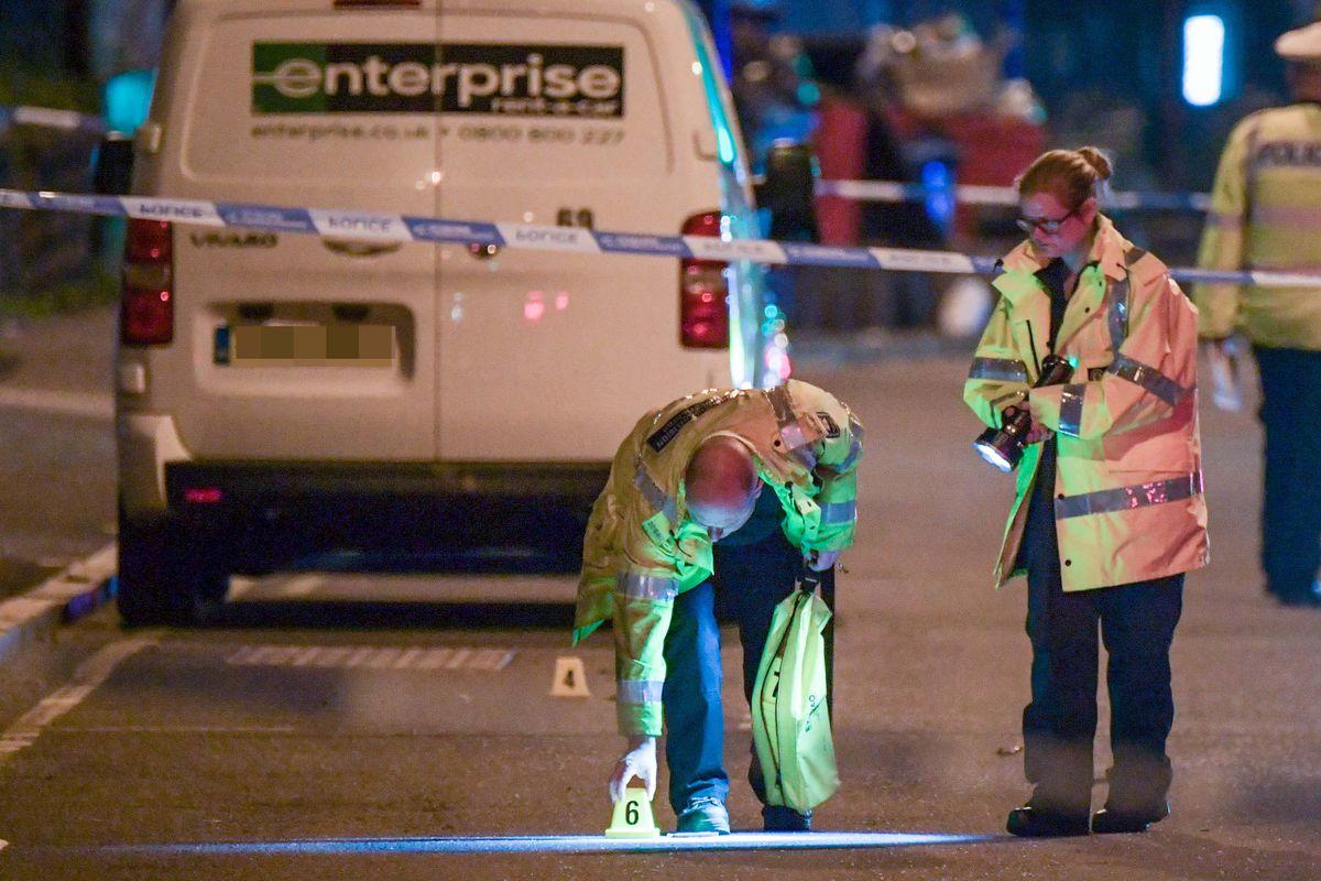 Investigators at the scene. Pic: SnapperSK