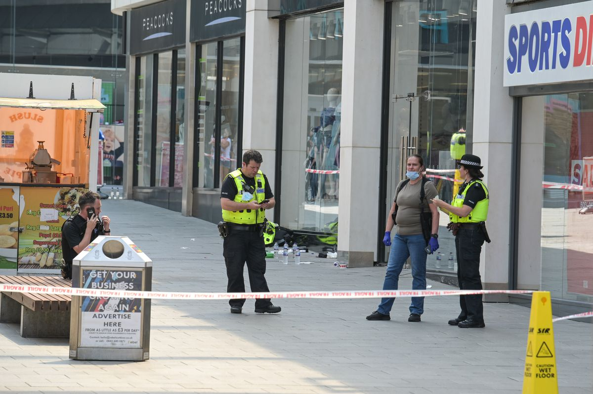 The attack happened near Sports Direct. Photo: SnapperSK