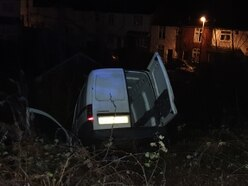 Van driven through park then dumped in ditch after Black Country police chase
