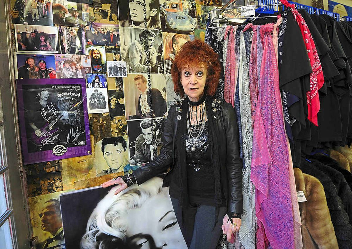 Trisha inside her treasure trove of a shopping experience