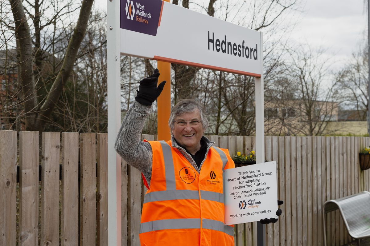 David Wisehall, chairman of the Heart of Hednesford Station Adoption Group, at the station. Photo: Carol Bailey