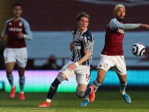 Conor Gallagher of West Bromwich Albion and Douglas Luiz of Aston Villa.