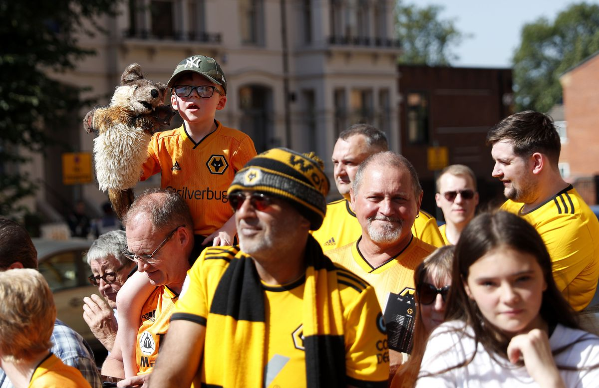 A sea of gold - Nick loves the way Wolves fans are so passionate about the club