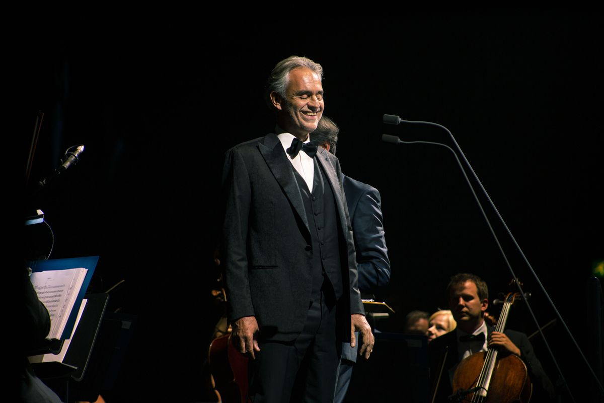 Andrea Bocelli at Resorts World Arena, Birmingham. Pictures by: Michelle Martin