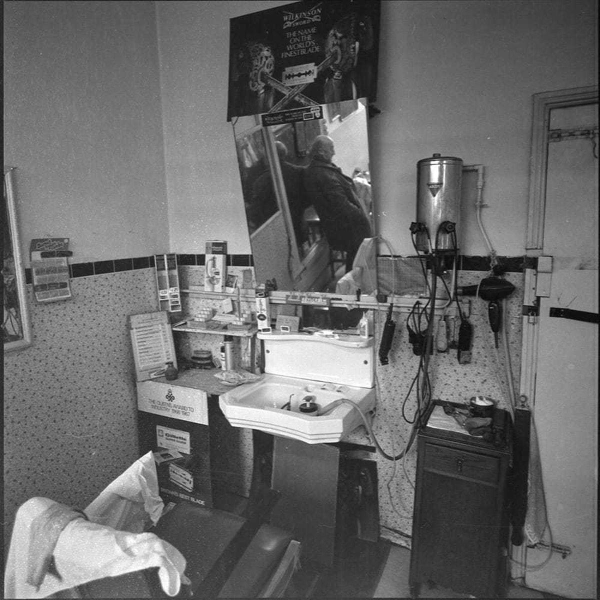 Inside Teddy McGovan's barbershop