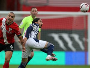 Oriol Romeu of Southampton Football Club and Filip Krovinovic of West Bromwich Albion.