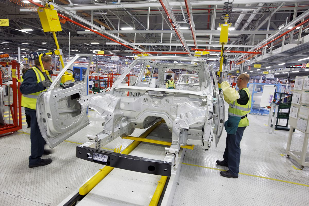 Range Rover manufacturing at the Jaguar Land Rover factory in Solihull