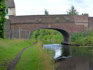 York's Bridge in Pelsall, with new brickwork where a car went through the wall