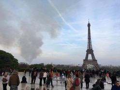 Watching Notre Dame burn: Bridgnorth family see cathedral blaze from top of Eiffel Tower