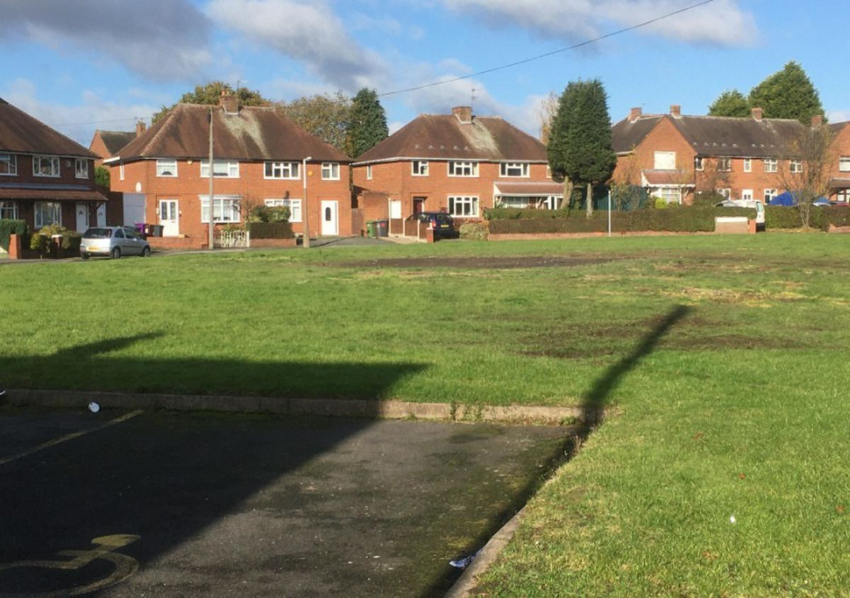 The site of the community bonfire in Whitehouse Crescent, Ashmore Park Wednesfield, which has been cleared up by the council