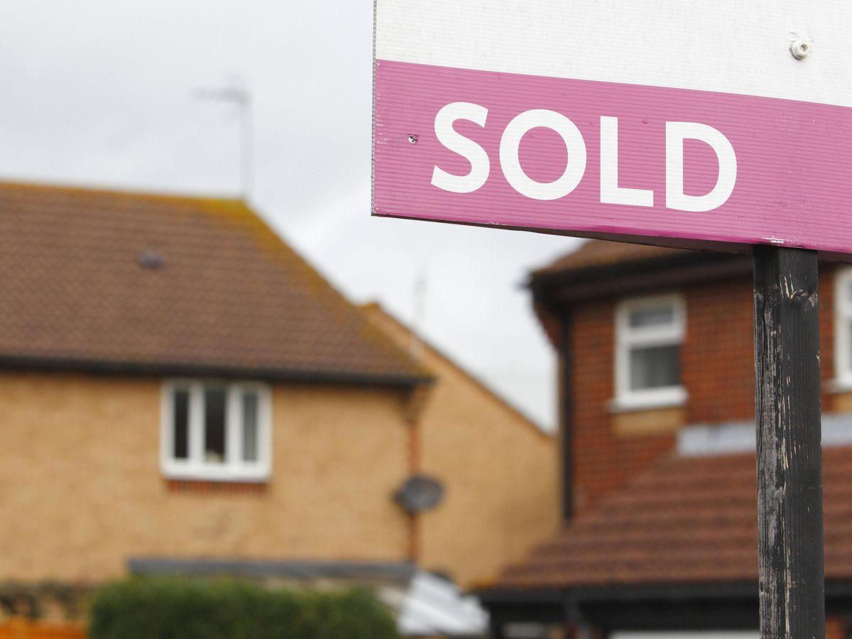 An estate agent's sign