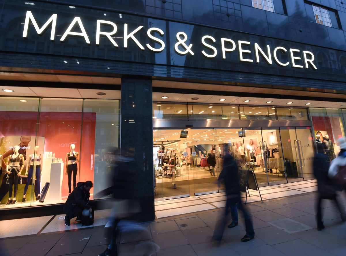 A general view of Marks and Spencer on Oxford Street in London