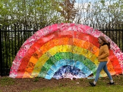 Rainbow spreads message of joy from Wolverhampton school to key workers