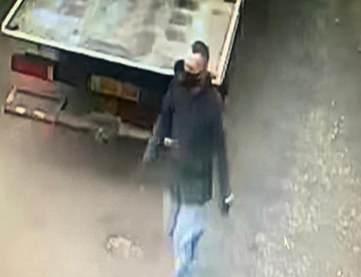 CCTV of one of the thieves