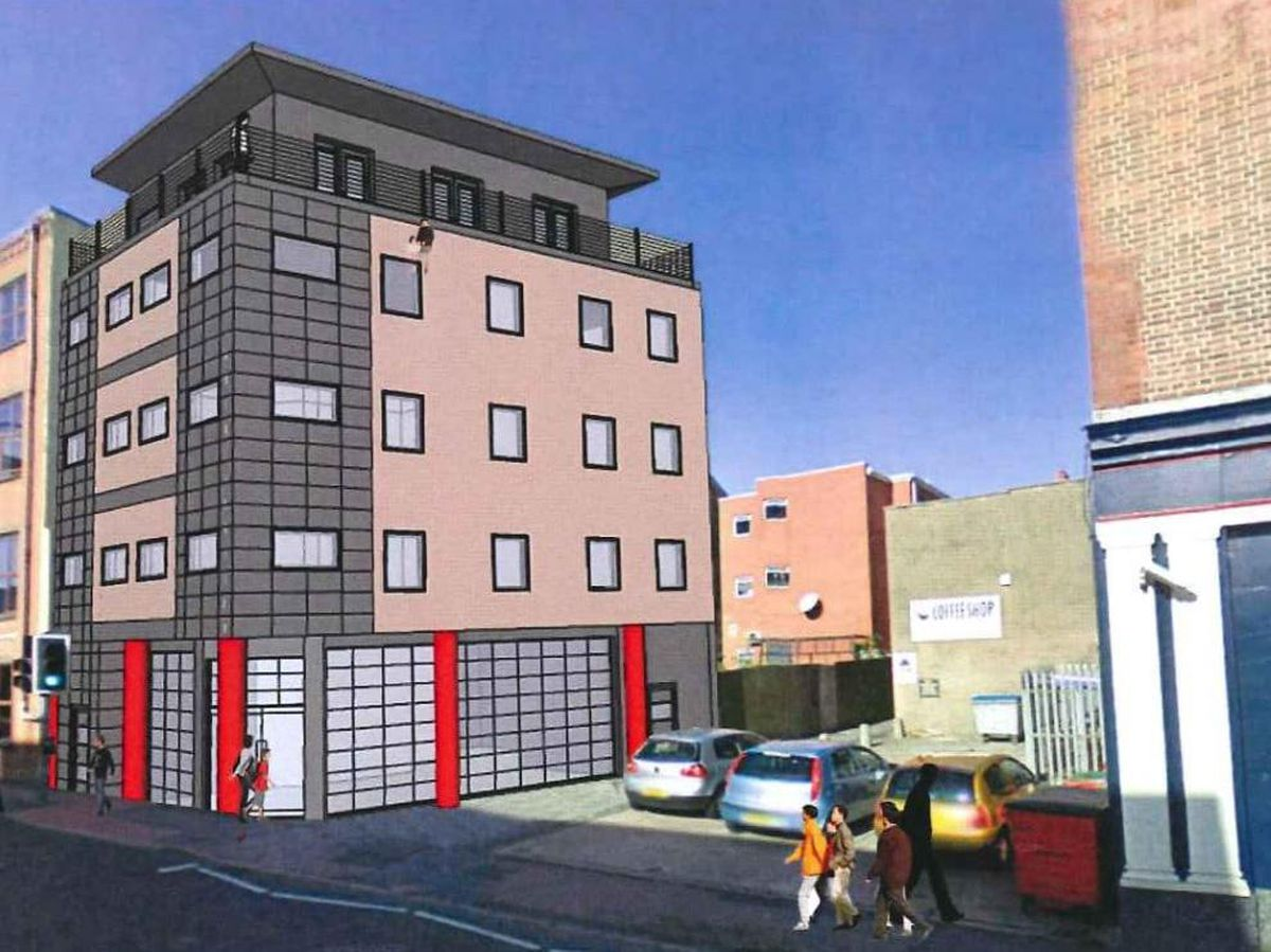 Proposed development in King\'s Street, Dudley. Photo: ID Architects
