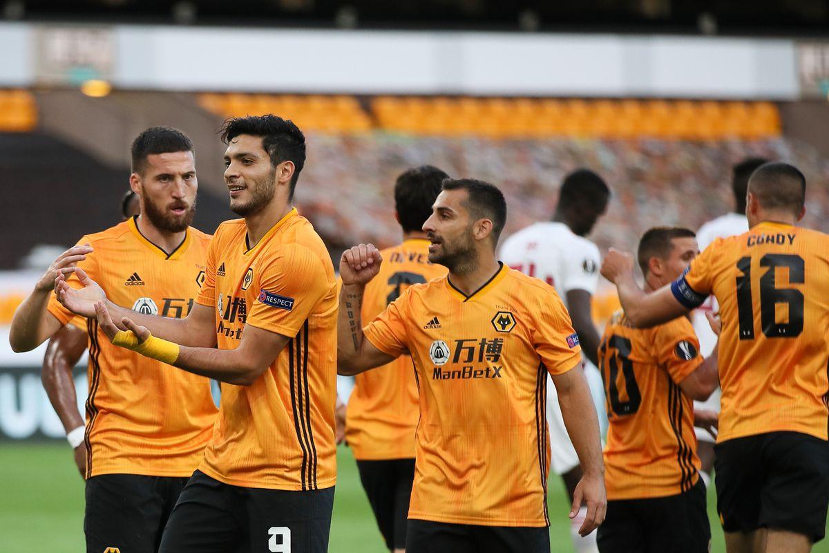 Raul Jimenez of Wolverhampton Wanderers celebrates after scoring a goal to make it 1-0 (AMA)