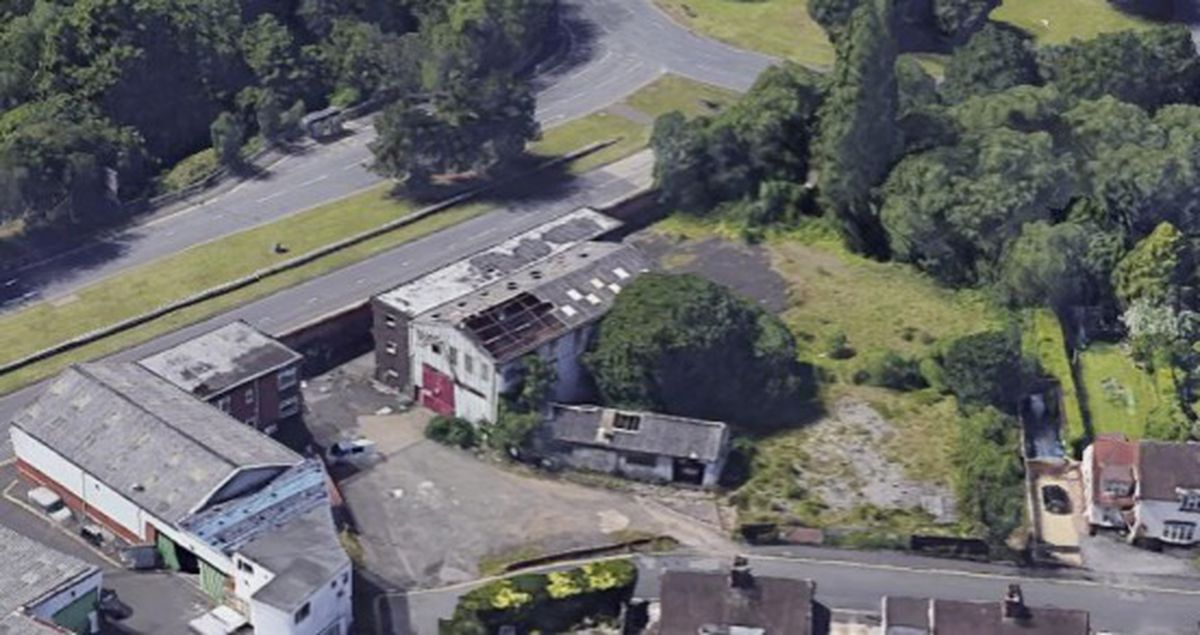 The site of the proposed care home in Halesowen