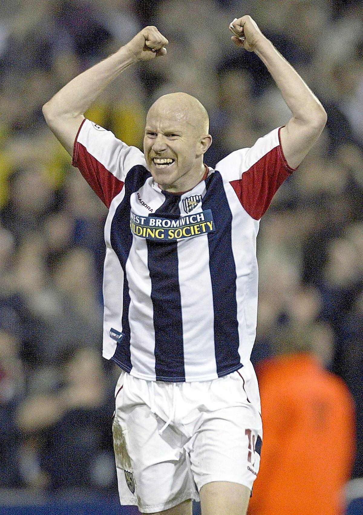 Lee Hughes celebrates