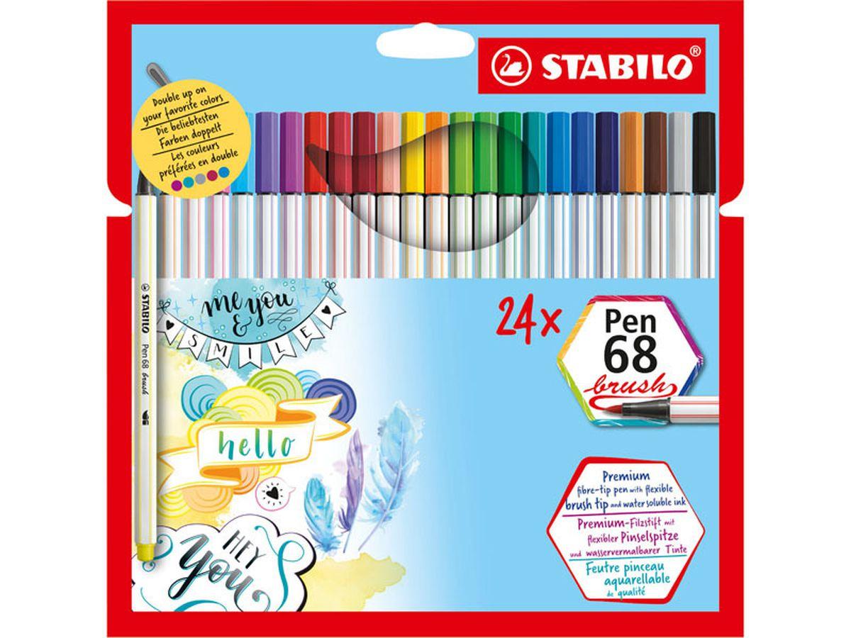 Stabilo Pen 68 Brush pen set