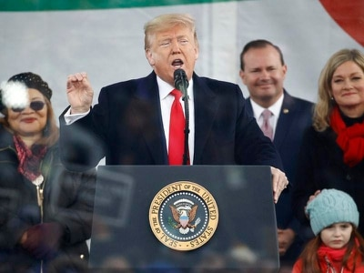 Trump become first US president to attend anti-abortion rally