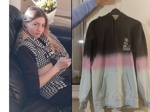 Polly Barlow and the hoodie she was wearing