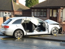 JAILED: Driver demolished wall in police chase crash leaving him and passenger trapped