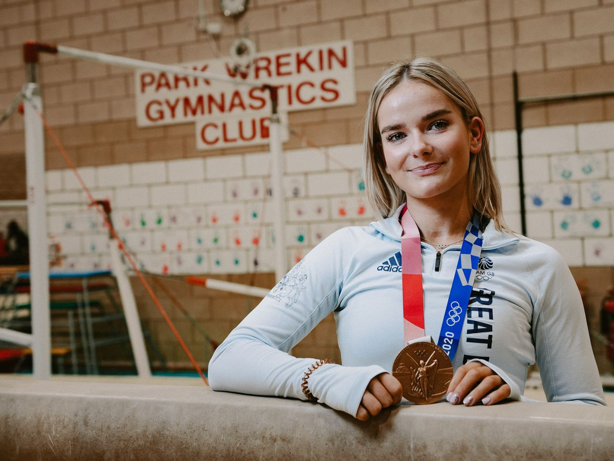 Olympian Alice Kinsella receives a welcome home party at Park Wrekin Gymnastics Club in Wellington, after returning home from Tokyo 2020 Olympics with a Bronze Medal for the Team Final