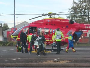 An air ambulance was called to the incident in Wolverhampton. Photo: David Evans
