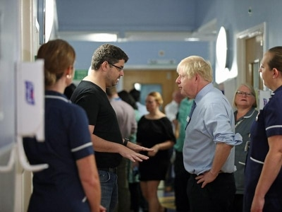 Johnson confronted by parent of sick child over state of NHS