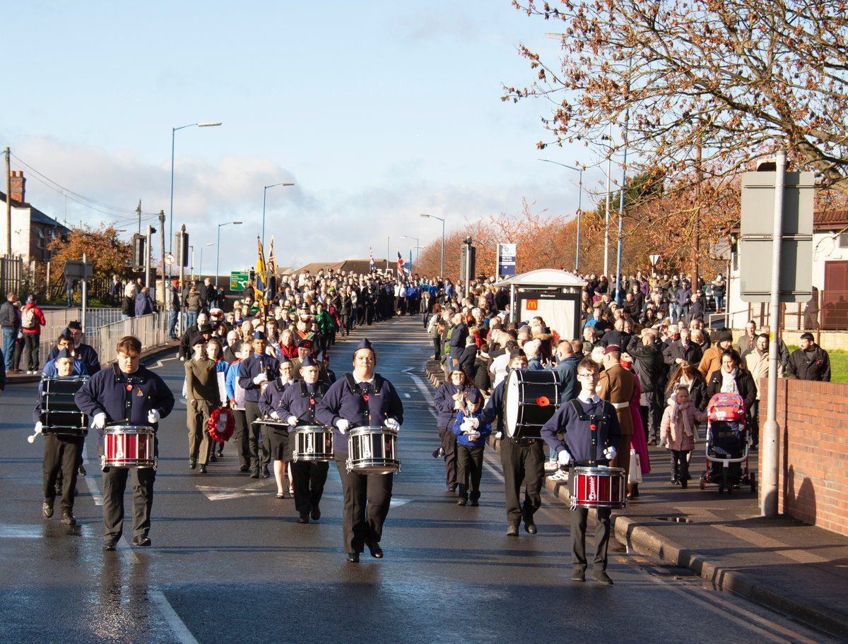 The parade in in Wednesbury. Credit: KennettPhoto