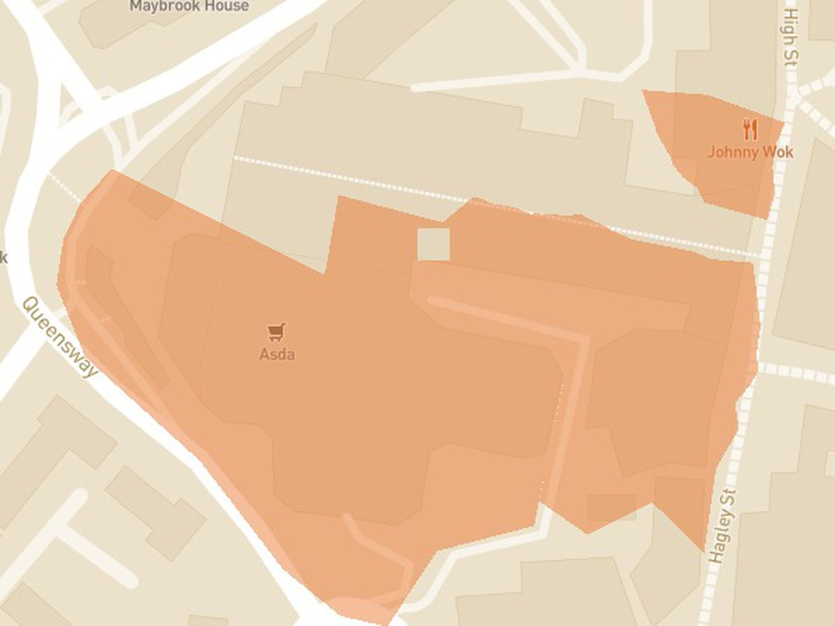 The affected area of disruption