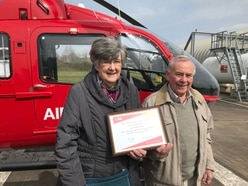 £22,000 and counting as couple plough on with fundraising for air ambulance
