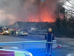 Huge Birmingham factory fire causes train disruption on nearby rail lines
